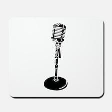 Retro Microphone Mousepad