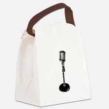 Retro Microphone Canvas Lunch Bag