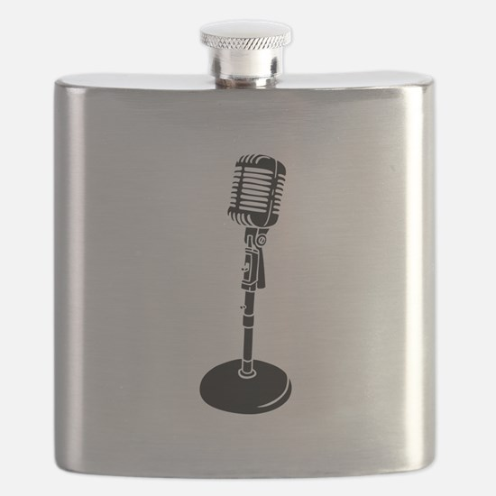 Retro Microphone Flask