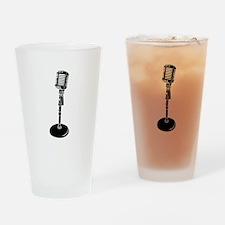 Retro Microphone Drinking Glass