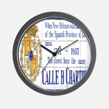Chartres Tile Mural Wall Clock