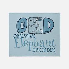 Funny Elephant Throw Blanket