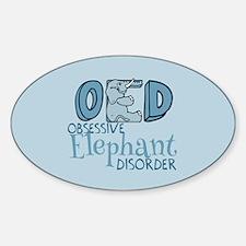 Funny Elephant Sticker (Oval)