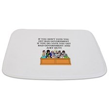 election jury duty gifts apparel Bathmat