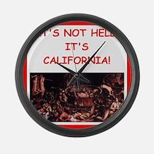 california Large Wall Clock