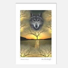 Wolf 'Shaman's Dream' ~ Postcards (Pack of 8)