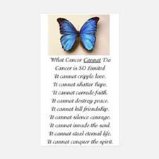 What Cancer Cannot Do.jpg Decal