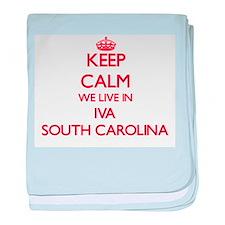 Keep calm we live in Iva South Caroli baby blanket