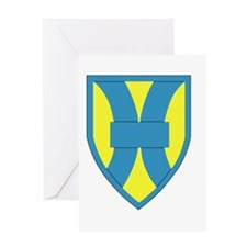 21st Support Command Insignia Greeting Cards