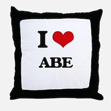 I Love Abe Throw Pillow
