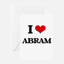 I Love Abram Greeting Cards