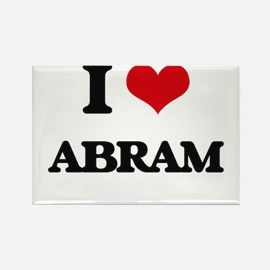 I Love Abram Magnets