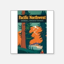 "Unique Northwest Square Sticker 3"" x 3"""