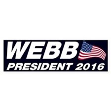 Jim Webb President 2016 Bumper Stickers