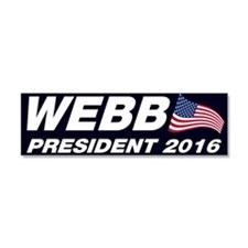 Jim Webb President 2016 Car Magnet 10 x 3