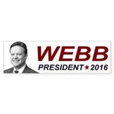 Jim Webb President 2016 Bumper Sticker