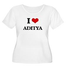 I Love Aditya Plus Size T-Shirt
