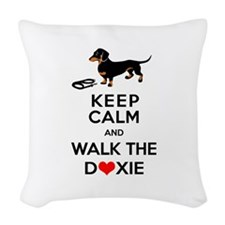 Funny Dachshund Design Woven Throw Pillow