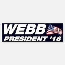 Jim Webb President 2016 Bumper Bumper Sticker