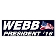 Jim Webb President 2016 Bumper Stickers
