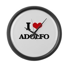 I Love Adolfo Large Wall Clock