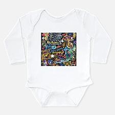Abstract-Believe 1 Long Sleeve Infant Bodysuit