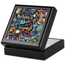 Abstract-Believe 1 Keepsake Box