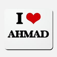 I Love Ahmad Mousepad