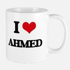 I Love Ahmed Mugs