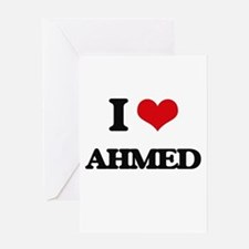 I Love Ahmed Greeting Cards