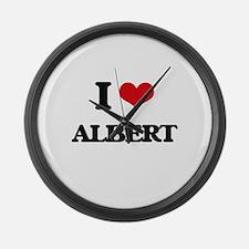 I Love Albert Large Wall Clock
