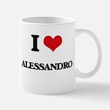 I Love Alessandro Mugs