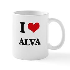I Love Alva Mugs