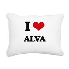 I Love Alva Rectangular Canvas Pillow