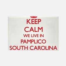 Keep calm we live in Pamplico South Caroli Magnets