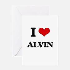 I Love Alvin Greeting Cards