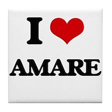 I Love Amare Tile Coaster