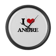 I Love Andre Large Wall Clock