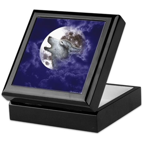 Moon Wolf ~ Keepsake Tile Box