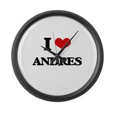 I Love Andres Large Wall Clock