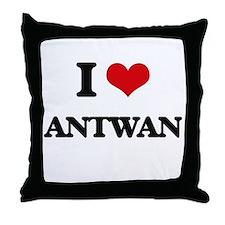 I Love Antwan Throw Pillow