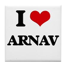 I Love Arnav Tile Coaster