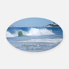 Breaking Ocean Wave Oval Car Magnet