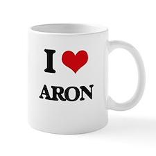 I Love Aron Mugs