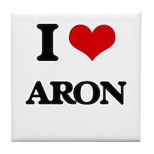 I Love Aron Tile Coaster