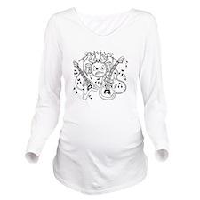 Musical Instruments Long Sleeve Maternity T-Shirt