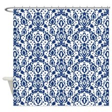 Cobalt Blue And White Shower Curtains Cobalt Blue And White Fabric Shower Curtain Liner