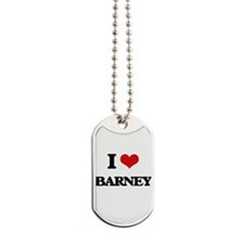 I Love Barney Dog Tags