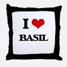 I Love Basil Throw Pillow