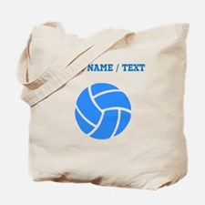 Custom Blue Volleyball Tote Bag